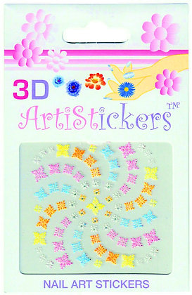 3D Nail Art Stickers - Snowflake