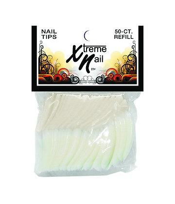 50pcs Refill Pack French White Nail Tips by Xtreme Nail