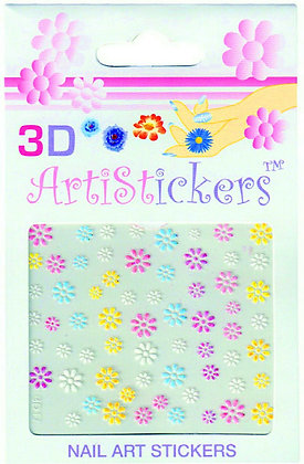 3D Nail Art Stickers - Flowers.05