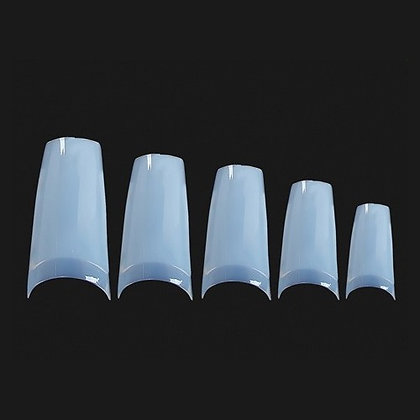 Natural Nail Tips - Shallow Well - 500pcs