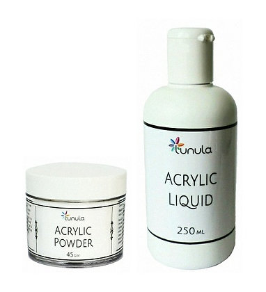 250ml Acrylic Liquid & 45g Crystal Clear Powder