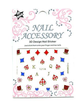 3D Foil Nail Art Stickers - Full Deck