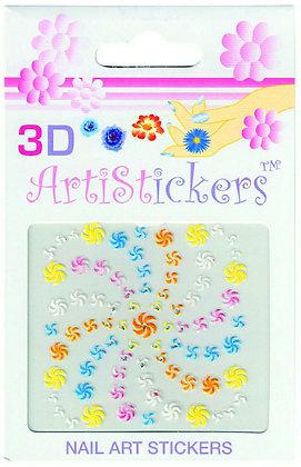 3D Nail Art Stickers - Pinwheels
