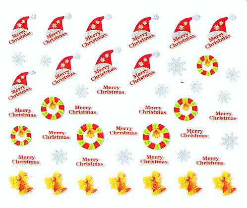 Christmas 3D Foil Nail Art Stickers.04