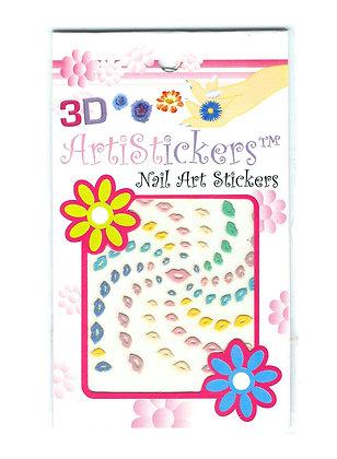 3D Nail Art Stickers - Kisses