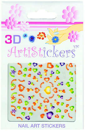 3D Nail Art Stickers - Hearts