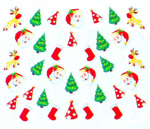 Christmas 3D Nail Art Stickers.01