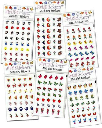 6-Pack Foil Arti Nail Art Stickers