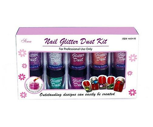 10 x 6g Nail Glitter Dust Kit.02