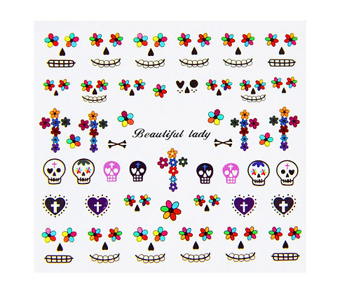 Nail Art Transfers - Skulls & Faces