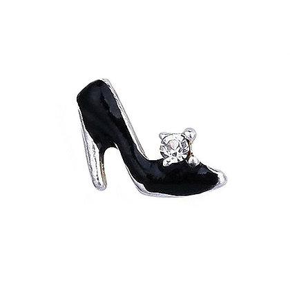 Black Shoe Nail Art Gem