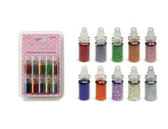 10pcs Nail Glitter Dust Set.01