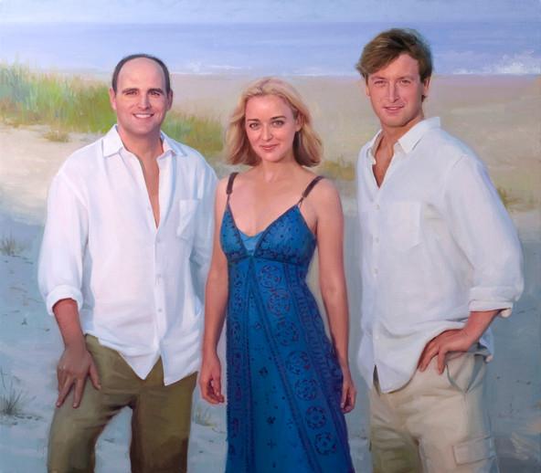 Portrait of Natasha, Jacob, and Charlie