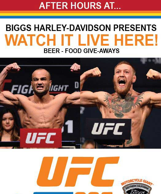UFC 205 Live at Biggs Harley-Davidson