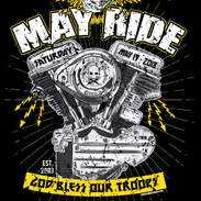 May Ride Motorcycle Rally Illustration