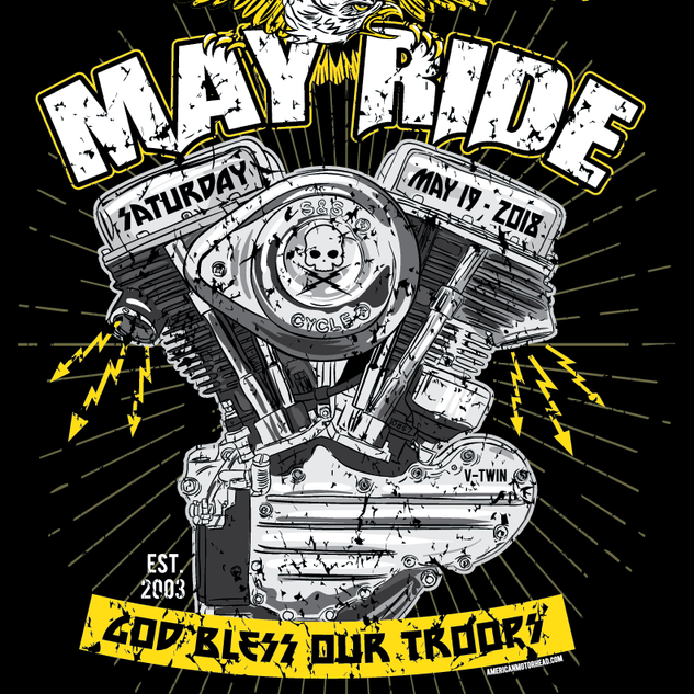 May Ride Motorcycle Rally Illustration