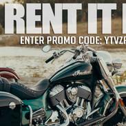 Indian Motorcycle Rentals web banner