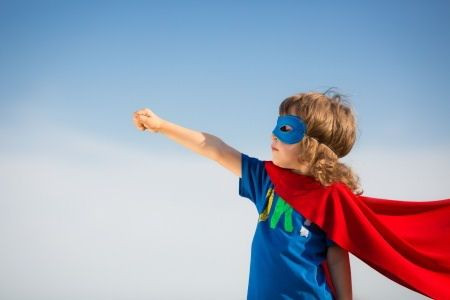 Courage, Superhero,  brave, keep going.