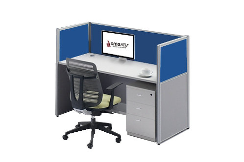 1 Seater System Panel Workstation