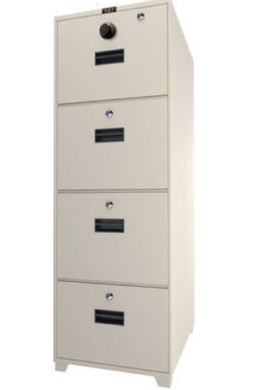 4-Drawer Fire Resistant Filing Cabinet