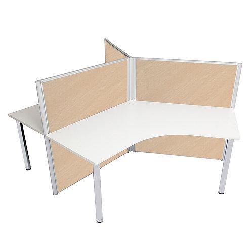 3 Seater 120° System Panel Workstation