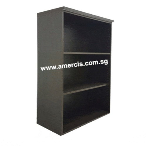 Medium Height Open Shelf Cabinet_Walnut