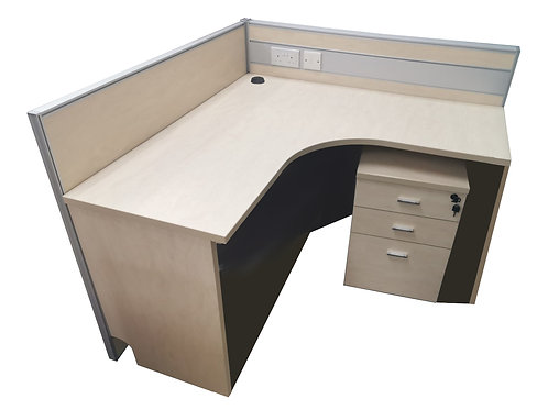 Sample L-Shaped Workstation