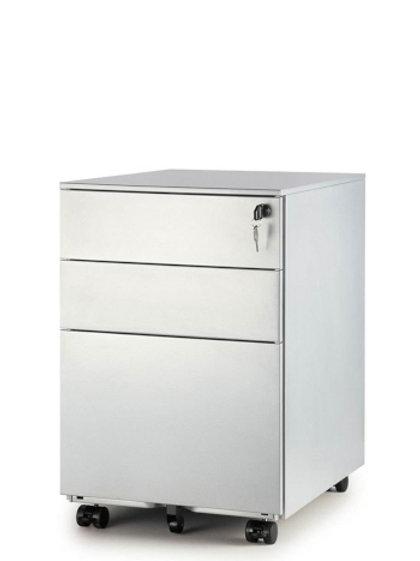 Grey Steel Mobile Pedestal