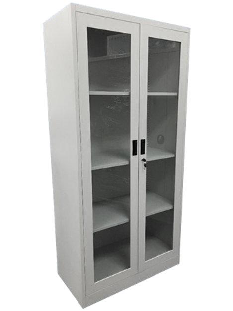 Full Height Swing Door Steel + Glass Cabinet
