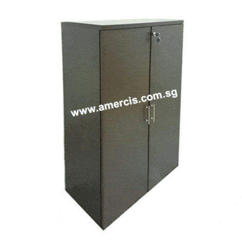 Medium Height Swing Door Cabinet_Walnut