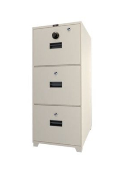 3-Drawer Fire Resistant Filing Cabinet