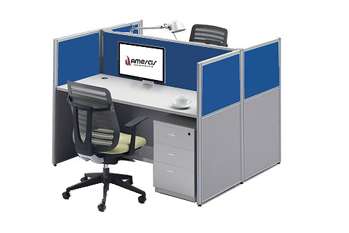 2 Seater System Panel Workstation