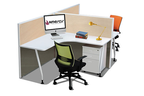 2 Pax T-Shaped Stamford Workstation