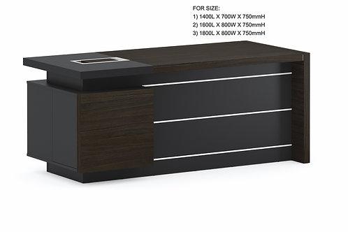 Minz Director Desk - Mocha [1400L]