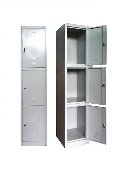 3-Door Steel Locker