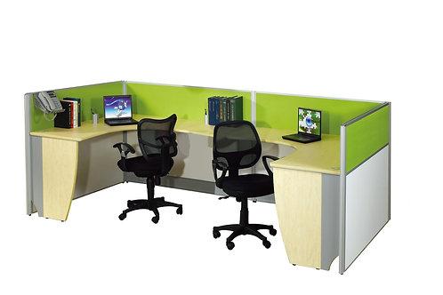 2 Pax C-Shaped Prestige 1500L Workstation