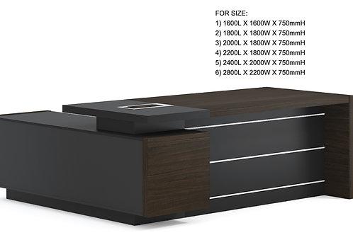 Minz Director Desk - Mocha [1600L]