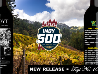 Foyt Wines Celebrates Month of Speed with Tony Kanaan Tribute Bottle