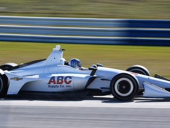 Tony Kanaan tests the No. 14 ABC Supply Chevrolet at Sebring for the first time