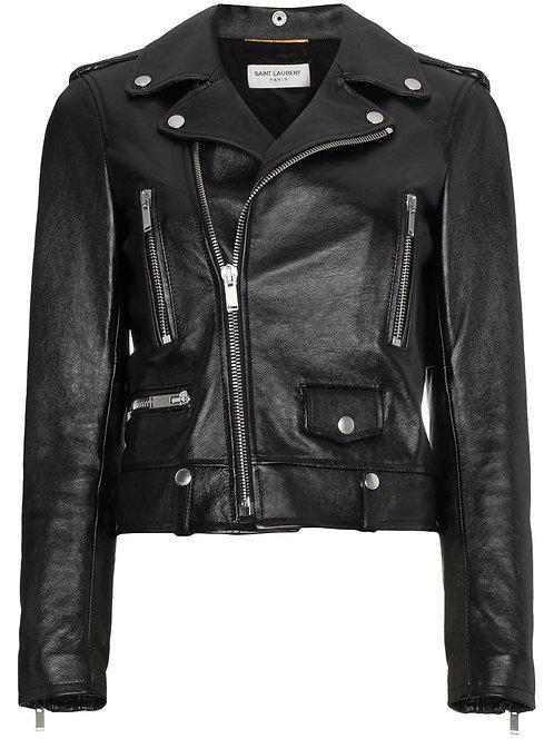 Black Iconic Leather Biker Jacket