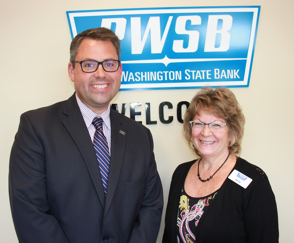 James Schowalter and Annie Noster at Belgium Branch of Port Washington State Bank