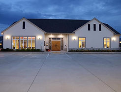 Village Hall centered at Night by Eric C