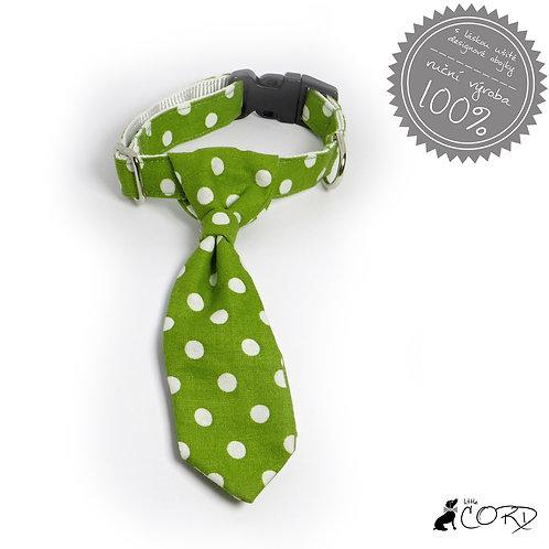 ZELENÉ PUNTÍKY - kravata