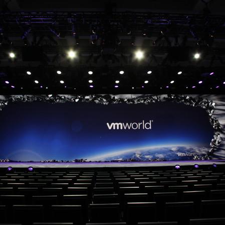 VM World Scenic: stage  Jack Morton Worldwide; Peter Crawford – Designer; Rick Voight - TD