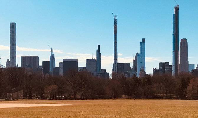 Battle of the skyscrapers, as seen from Central Park.
