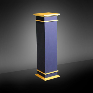 Navy Blue with Gold Trim Pedestal