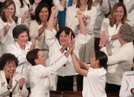Women In Congress Wearing White to SOTUS