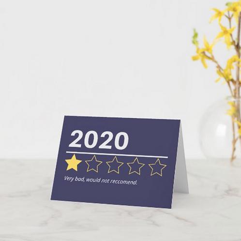 """""""2020: 1/5 Stars"""" Card"""