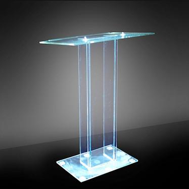 Transparent Plexiglass Single Column