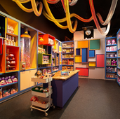 Surprise Room CAMP Experience Store Retail space, New York, NY Scenic: Merchandise display units